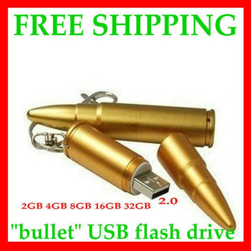 free shipping Metal bullet usb flash drive 4GB 8GB 16GB 32GB 64GB 128GB usb flash disk usb pen 2 yeara warranty(China (Mainland))