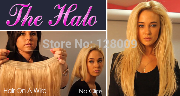 2014 New Hair Products Straight 100% Virgin Brazilian Human Hair Flip in Halo Hair Extensions,Fish Line Hair weaving<br><br>Aliexpress