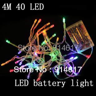 On Sale Outdoor Festival Christmas Decoration LED String Battery Operated PVC Tube Shape Fairy Lights 4M 40 LED(China (Mainland))