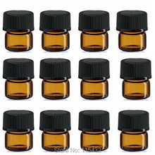 Free Shipping ,100sets/lot 1ML Amber Mini Glass Bottle, 1CC Amber Sample Vial,Small Essential Oil Bottle(China (Mainland))