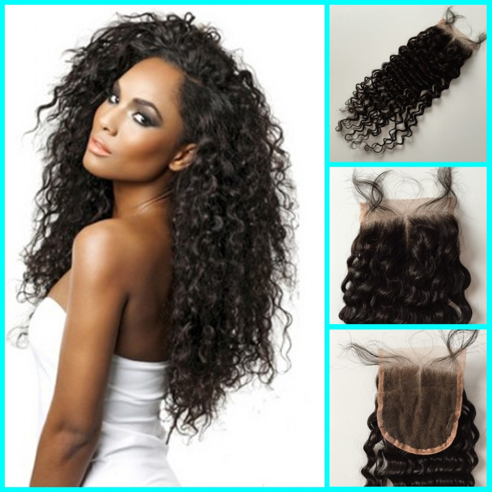 Brazilian Deep Wave Candy Lace Closure Bleached Knot Hair Lace Front Closure Piece Malaysian Brazilian Deep Wave Closure<br><br>Aliexpress