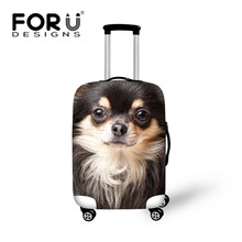 Fashion Dog Printing Luggage Covers for 18-30 Inch Suitcase Animal Travel Accessories Elastic Luggage Protector Dust Cover(China (Mainland))