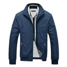 2015 New Arrival Spring Men s Solid Fashion Jacket Male Casual Slim Fit Mandarin Collar Jacket