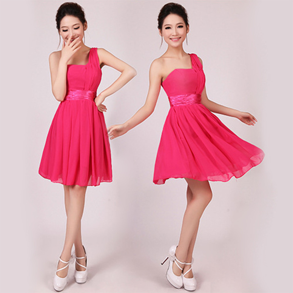 Women's Formal Mini Dress Wedding Prom Ball One Shoulder Dress Suit Hot Selling(China (Mainland))