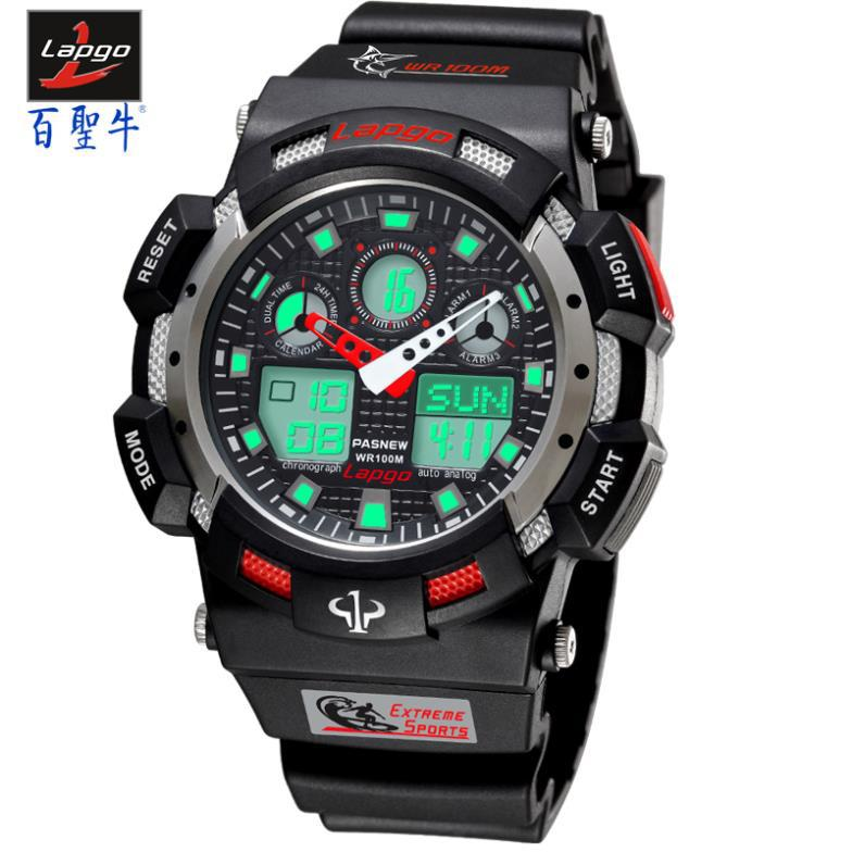 New Men Sports Watches Top Brand PASNEW Electronic Wristwatch 100 Meters Waterproof Fashion Man Outdoor Diving Digital Watch<br><br>Aliexpress