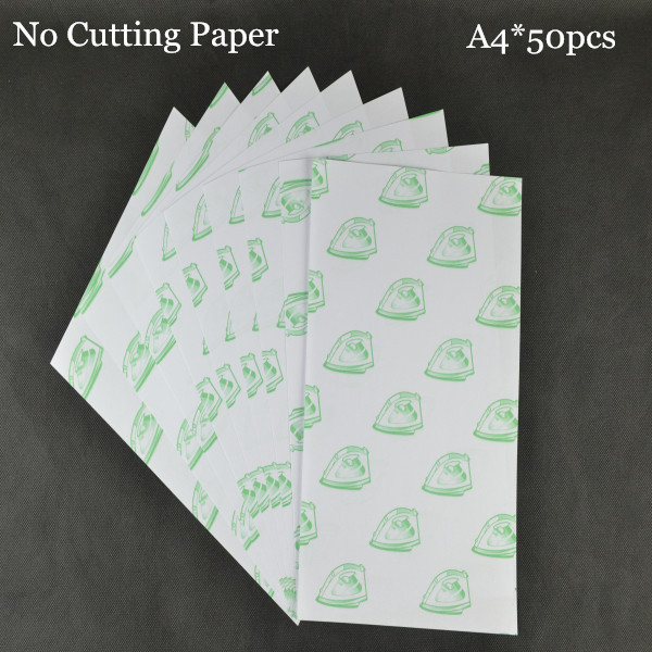50pcs*A4 No Need Cutting Paper Light White Color Laser Printer Heat Thermal Press Transfer Printing Paper  For Tshirt Textil(China (Mainland))