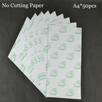50pcs*A4 No Need Cutting Paper Light White Color Laser Printer Heat Thermal Press Transfer Printing Paper  For Tshirt Textil