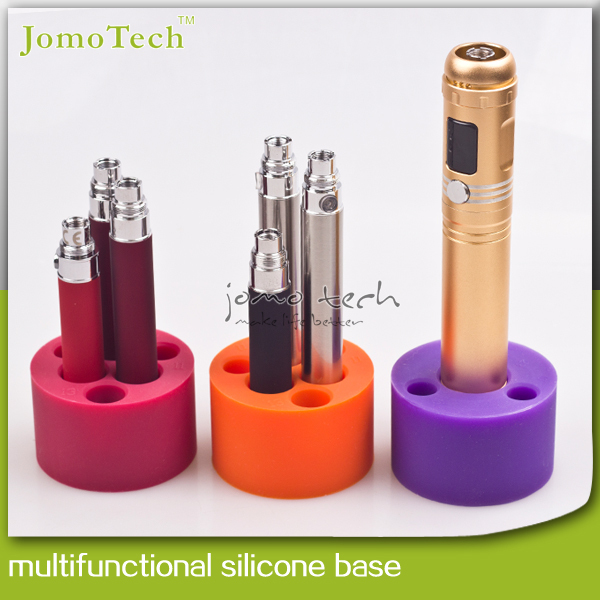 Jomo Multifunctional Silicone Base E Cigarette Atomizer Sucker Battery Standing Holder for Mechanical Mod/Evod eGo Kits Jomo-46(China (Mainland))
