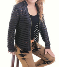 2015 New Plus size Summer Women's Motorcycle PU Lace Patchwork Faux Leather Jackets Lady Short Coat Outerwear Hot Sale(China (Mainland))