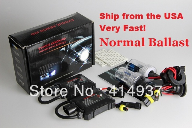 XENON HID KIT 35W 12V H1 H3 H4 H7 H8- H9- H11 HB3-H10-9005 Single Beam Lamp Color 4300k 6000k 10000k Ship from the USA