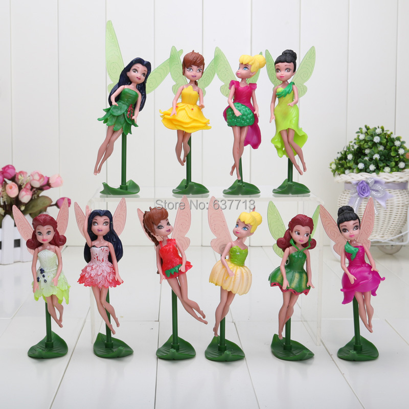 10pcs/set 15cm Tinkerbell Fairy Dolls Tinker Bell PVC Figures Toys for Children Girls Toys Gifts(China (Mainland))
