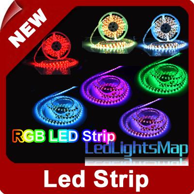 DHL EMS Free 5M 5050 RGB 300SMD LED Stripe Waterproof IP54 Wholesale 50M/lot