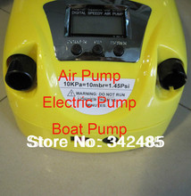 Free shipping 12v electric speedy air pump rubber inflatable fishing boat Gp-80D LCD display portable high quality easy to use(China (Mainland))