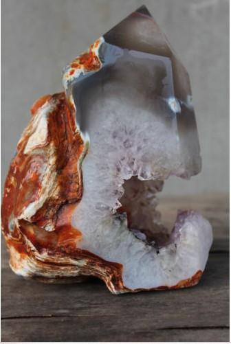 Rare 3.27lb NATUREL améthyste agate geode EN CRISTAL de QUARTZ BAGUETTE POINT 2195(China (Mainland))