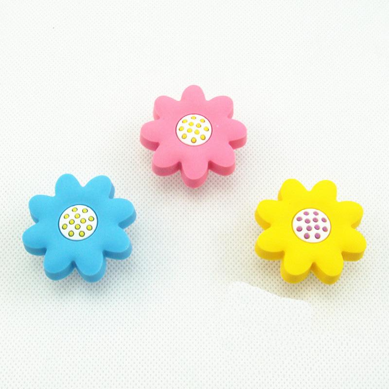 Soft Gum Sunflower Knobs Children Room Cabinet Cupboard Knobs and Handles Kids Knobs Drawer Pulls Furniture hardware(China (Mainland))