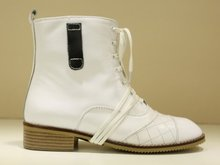 Media del tobillo envío gratis corto natrual reales cuero genuino del alto talón mujeres nieve zapatos de la bota R4679 tamaño del EUR 34-39(China (Mainland))
