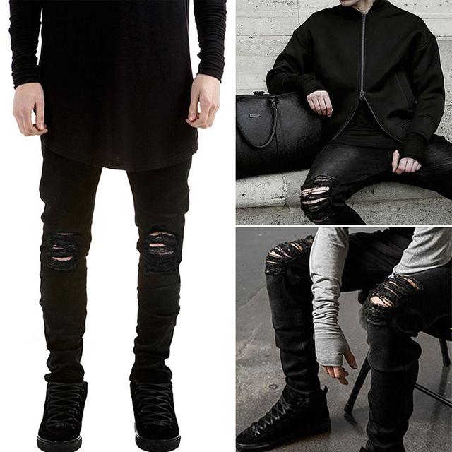 Европа рваные джинсы ноги протянуть джинсы джинсы с отверстием syle # MD1006