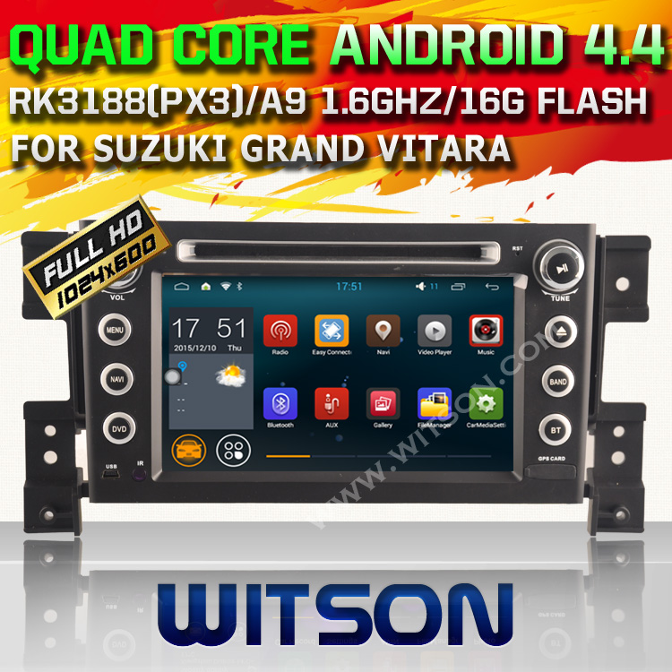 WITSON Quad Core Android 4.4 CAR GPS for SUZUKI GRAND VITARA 2005-2012 RADIO TAPE RECORDER DVD 1024X600+DSP+DVR+ WIFI+16GB flash(China (Mainland))