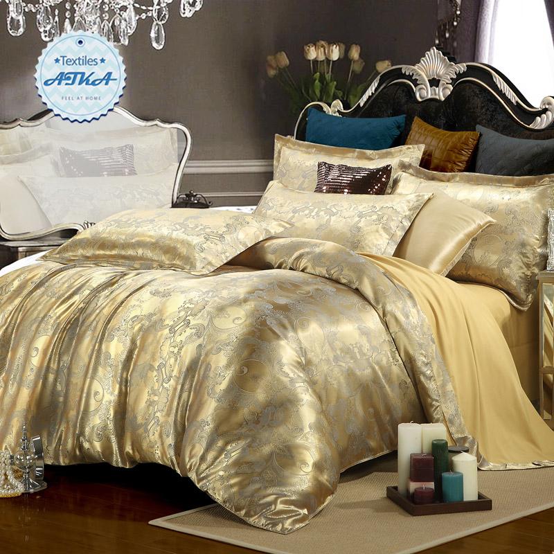 Buy Silk Satin Bedding 4pcs Queen King