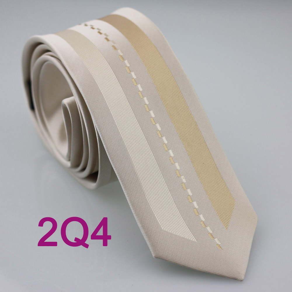 YIBEI Coachella ties Men's SKINNY Tie New Design Bordered Beige With Khaki Line Stripe Microfiber Necktie Fashion SLIM Tie(China (Mainland))