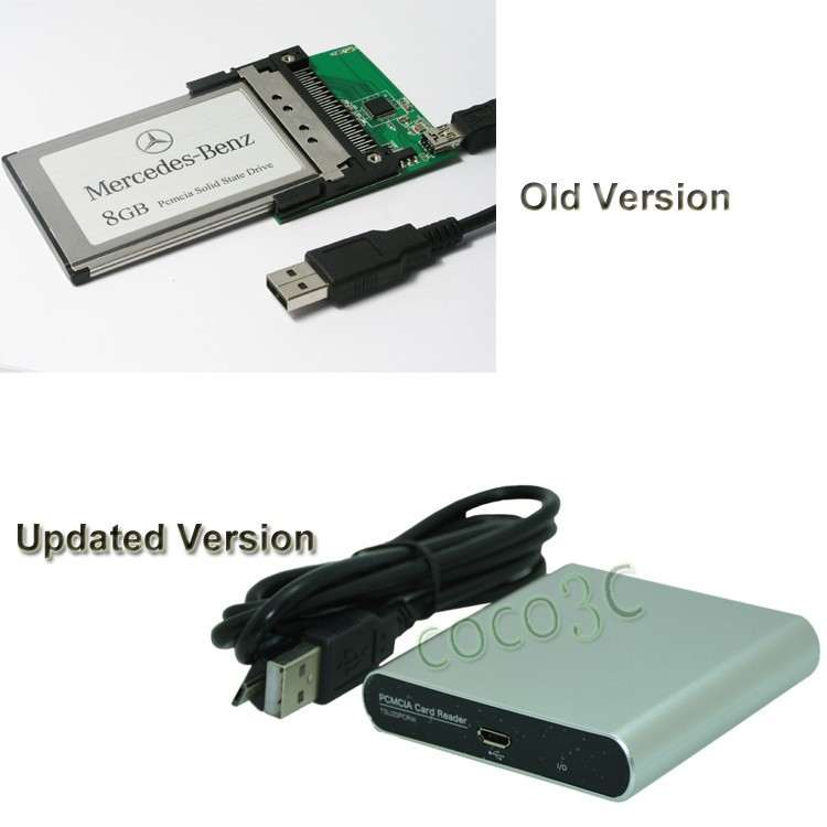 Usb 2 0 to 68pin pcmcia card reader for sd cf to pcmcia for Pcmcia card for mercedes benz