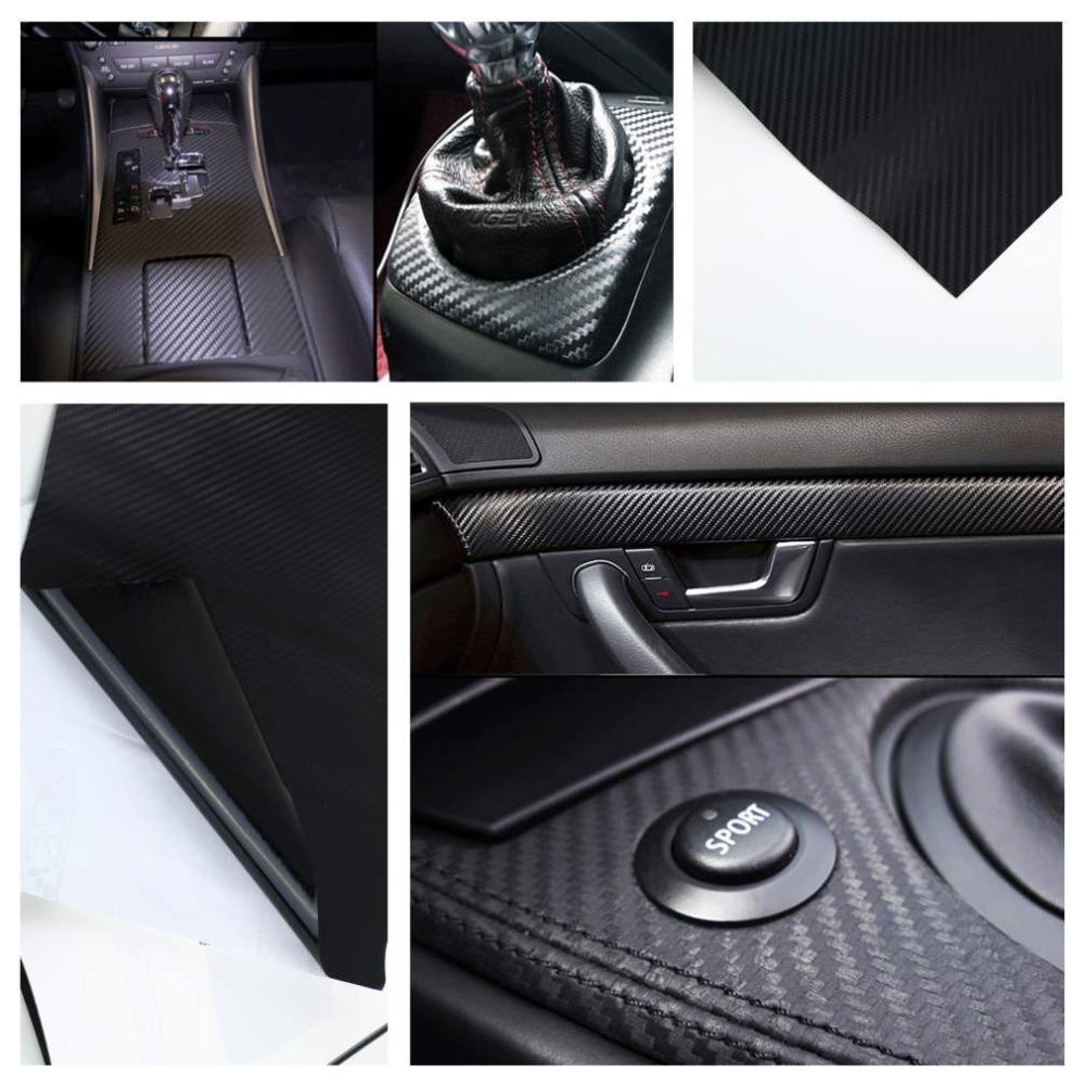 1pc 127X30cm 3D Black Carbon Fiber Vinyl Film Carbon Fibre Car Wrap Sheet Roll Film tools Sticker Decal car styling(China (Mainland))