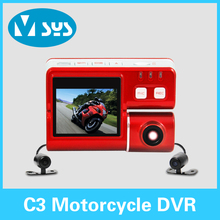 2015 new arrival waterproof  Motocycle DVR with dual cameras(China (Mainland))