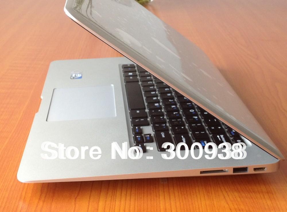 Freeshipping 14.1'' Ultra Thin Laptop With Intel Atom D2600 1.6Ghz Dual Core 4GB DDR3 RAM 500GB HDD WIN7 OS WIFI Webcam HDMI(Hong Kong)