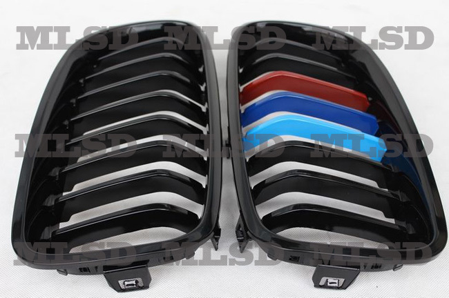 3 Color M Colors Style paint ABS Front Grille for BMW F30 F35 320i 320Li 328i 328Li 335i 335Li 2011-2014(China (Mainland))