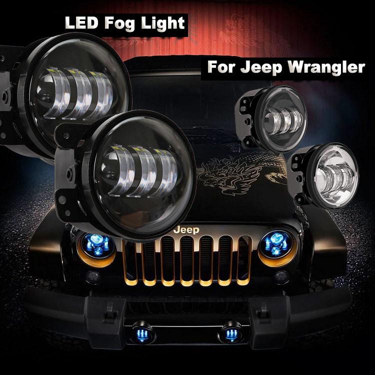 4 inch cree led fog light 30w 12v 24v front bumper lamp. Black Bedroom Furniture Sets. Home Design Ideas