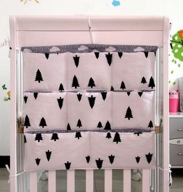 Promotion Kitty Mickey 62 52cm 100 cotton font b baby b font crib organizer for nappy