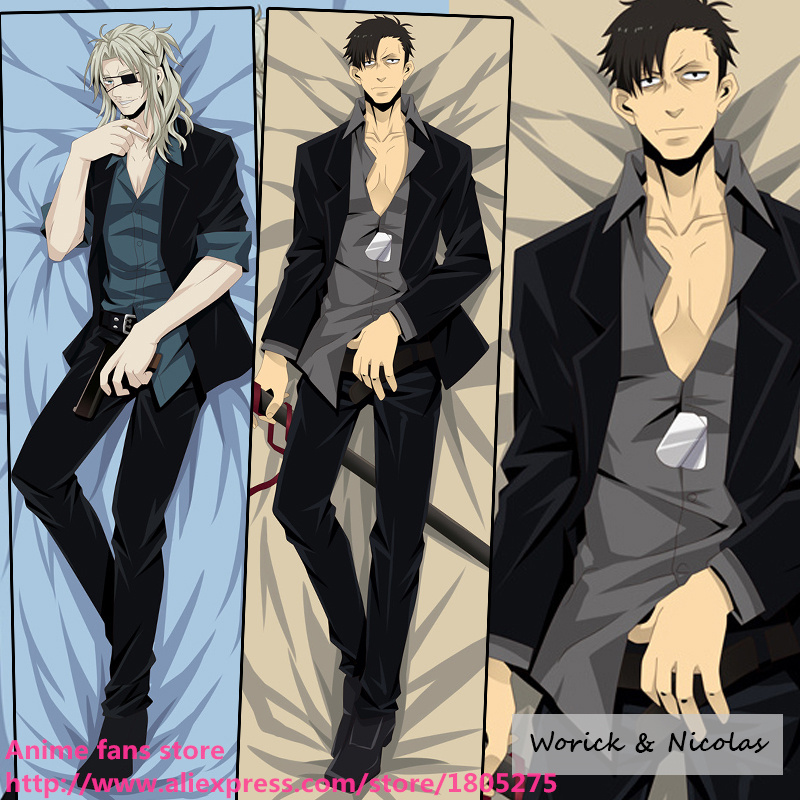 Cool Japan Anime Pillowcase GANGSTA HANDY MAN Arcangelo Worick & Nicolas Brown Pillow Case Cover decorative Hugging Body Bedding - fans store