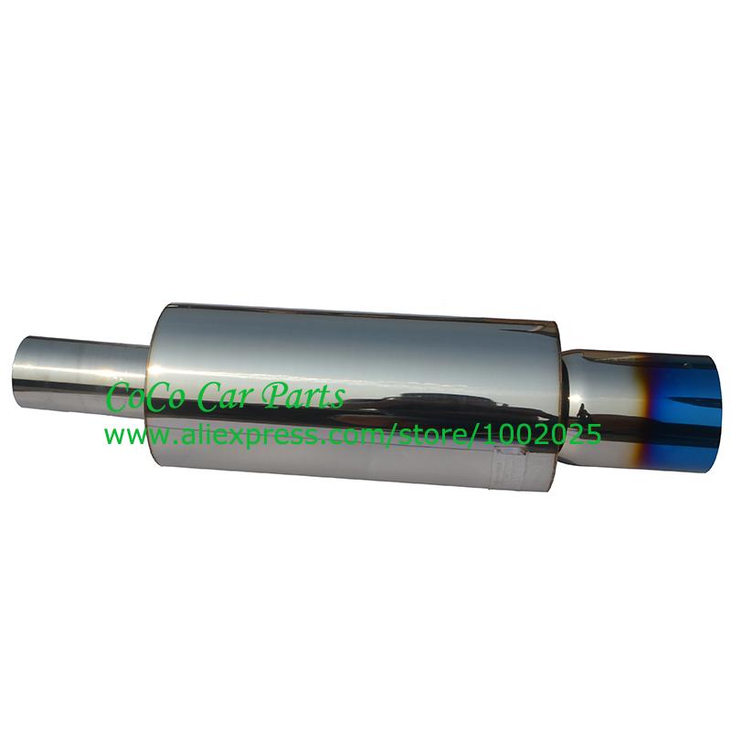 HK* Stainless Steel Exhaust Muffler Pipe Titanium Universal Exhaust Pipe Big Size(China (Mainland))