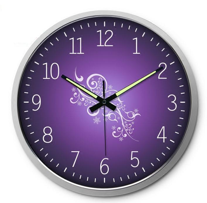 Orologio da parete viola - Parete viola camera da letto ...