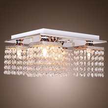 Buy NFLC-Crystal Chandelier Ceiling Light Lamp Pendant Fixture Flush Mount Square for $22.92 in AliExpress store