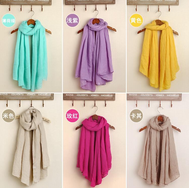 HOT selling fashion plain solid color cotton shawls wrap headband Muffler hijab muslim head multicolor scarves/scarf 10pcs/lot(China (Mainland))