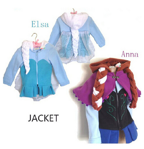 In Stock FrozenJacket 100% Cotton Childrens Coat Elsa &amp; Anna Clothes Cosplay Girls Coat<br><br>Aliexpress