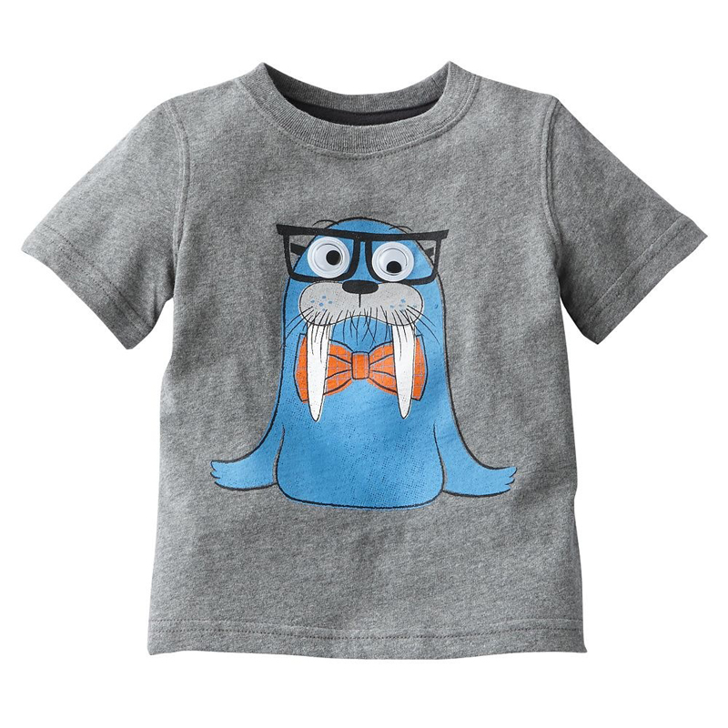New Design 1Y-6Y Baby Boys Girls T-Shirt Cartoon Car And Motorcycle Design Child Boy Girl T-Shirt Children's Clothing Kids Tops(China (Mainland))