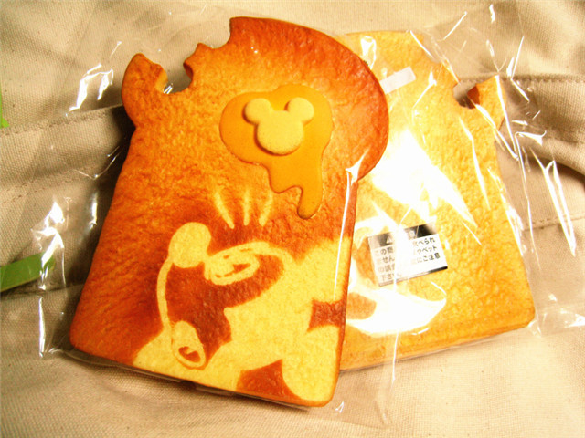1/ lot,14CM Simulation gap Mickey toast Original packing, home decorations ,squishy, - Summerhot ZHANG's store