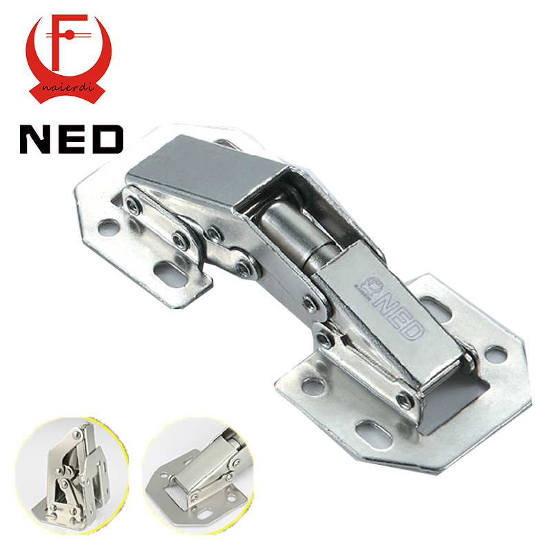 NED-A100 4 Inch 90 Degree No-Drilling Hole Cabinet Hinge Bridge Shaped Spring Frog Hinge Full Overlay Cupboard Door Hinges(China (Mainland))
