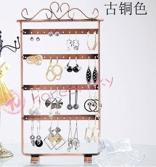 Promotion ! Free Shipping New  Metal Display For Jewelry , 48 Holes Earring Necklace Jewelry Display Rack Stand Holder<br><br>Aliexpress