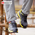 Modyf Men color steel toe cap work safety shoes mesh casual breathable outdoor boots puncture proof
