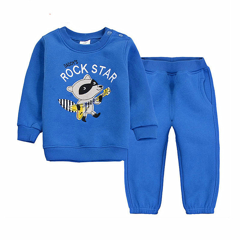2016 Autumn Winter 6M-5T Baby Clothing Sets Cartoon Animal O-neck Children Clothes 100% Cotton Kids Crochet 3D Toddler Clothes(China (Mainland))