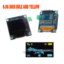 0.96 I2C IIC SPI Serial 128X64 Blue and Yellow OLED LCD LED Display Module for Arduino(China (Mainland))