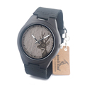 Bobobird G03 Deer Engraved Black Wood Watches Leather Band Men s Top Brand Design Quartz Watches