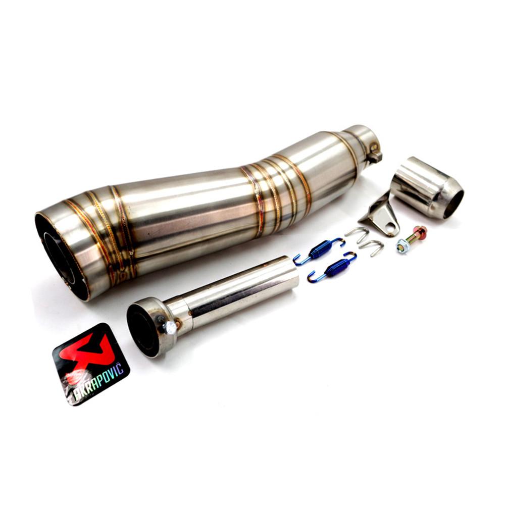 51mm Stainless Steel Motorcycle Exhaust Pipe Akrapovic Motorbike Exhaust Muffler Pipe Back Pressure with DB Killer(China (Mainland))