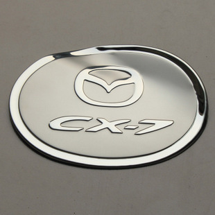 FIT FOR 2007 2008 2009 2010 MAZDA CX7 CX-7 STAINLESS FUEL GAS TANK CAP LID COVER CHROME MOLDING TRIM(China (Mainland))