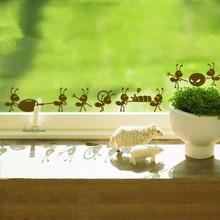 P2054 Мебель стены стикеры мультфильма украшения из стекла наклейки бесплатная доставка, муравей на зеркало оконные наклейки украшения дома