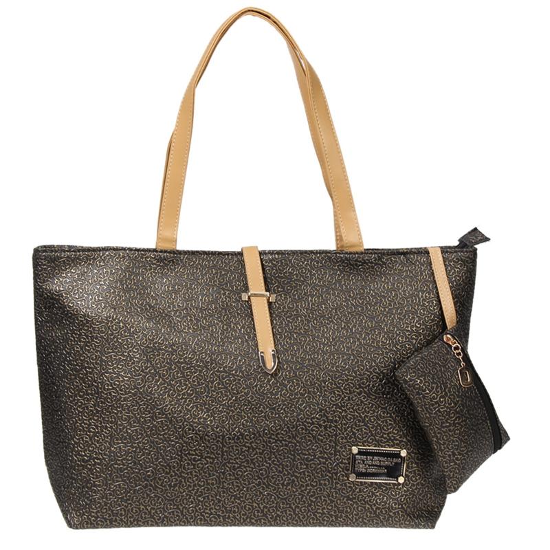 Classic Bags Handbags Women Famous Brand Handbag Simple PU Leather Totes Shoulder Bag Lady's Shopping Tote Purses and Handbags(China (Mainland))