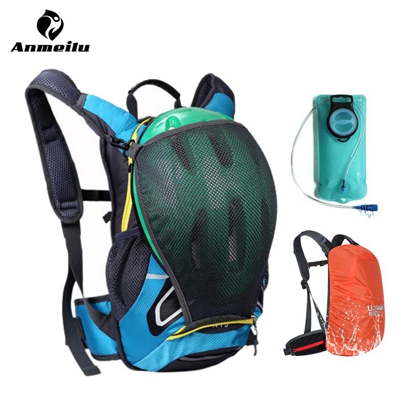 ANMEILU 15L Waterproof Rucksack Hiking Bag Outdoor Cycling Camping Climbing Sports Hydration Backpack Camelback + 2L Water Bag(China (Mainland))